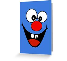 Cracked Tooth - Big Red Nose Cartoon Head Decal Kids Bag Tee Greeting Card