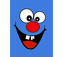 Cracked Tooth - Big Red Nose Cartoon Head Decal Kids Bag Tee Photographic Print
