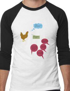 Chicken Red Little Complex Men's Baseball ¾ T-Shirt