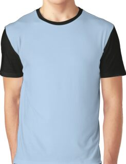 Baby Blue Solid Color Decor Graphic T-Shirt