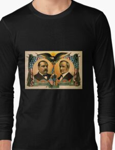 Artist Posters For president Grover Cleveland of New York For vice president Thos A Hendricks of Indiana SS Frizzell 0255 Long Sleeve T-Shirt