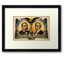 Artist Posters For president Grover Cleveland of New York For vice president Thos A Hendricks of Indiana SS Frizzell 0255 Framed Print