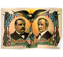 Artist Posters For president Grover Cleveland of New York For vice president Thos A Hendricks of Indiana SS Frizzell 0255 Poster