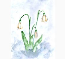 Snowdrop Flowers Painting 3 Unisex T-Shirt