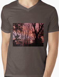 Sunset Silhouette Mens V-Neck T-Shirt