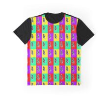 Butterfly Color Block Stamp Graphic T-Shirt