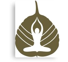 Yoga Logo Canvas Print