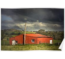 Red shed Poster