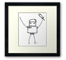 BACKSLASH the robot Framed Print
