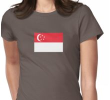 I Love Singapore - Country Code SG - T-Shirt & Sticker Womens Fitted T-Shirt