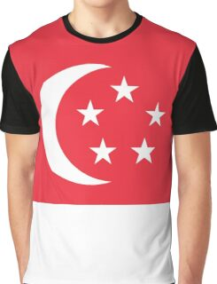 I Love Singapore - Country Code SG - T-Shirt & Sticker Graphic T-Shirt