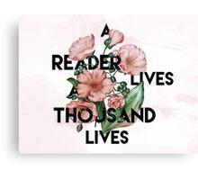 A Reader  Canvas Print