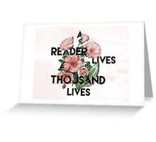 A Reader  Greeting Card