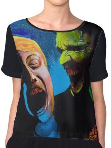 The Clash - Zombie Painting Chiffon Top