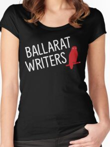 Ballarat Writers Shirt (Black) Women's Fitted Scoop T-Shirt