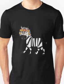 Cute Cartoon Animals Tribal Zebra Unisex T-Shirt