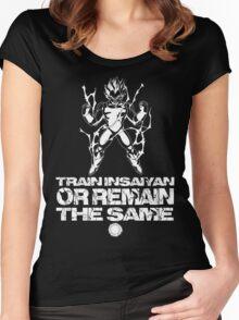 Train Insaiyan - White Women's Fitted Scoop T-Shirt
