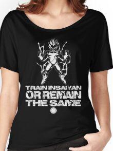 Train Insaiyan - White Women's Relaxed Fit T-Shirt
