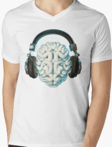 Mind Music Connection Mens V-Neck T-Shirt