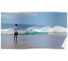 Surf Photographer, Pipeline, North Shore, Oahu, Hawaii Poster