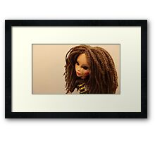 Not Your Typical Barbie Girl Framed Print