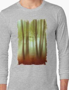 April Haze Abstract Long Sleeve T-Shirt
