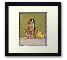 A portrait of a lady, India, Mughal, 18th century Framed Print
