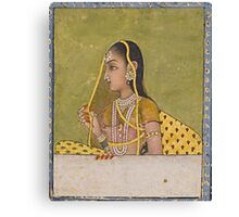 A portrait of a lady, India, Mughal, 18th century Canvas Print