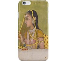 A portrait of a lady, India, Mughal, 18th century iPhone Case/Skin