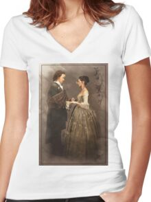 I give ye my body Women's Fitted V-Neck T-Shirt