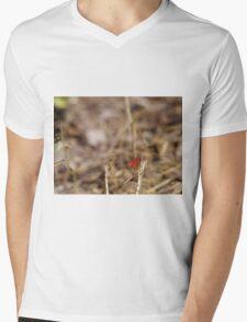 Red Dragonfly Mens V-Neck T-Shirt