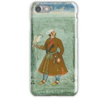 A portrait of a nobleman holding a falcon, attributable to Basawan, Mughal,  iPhone Case/Skin