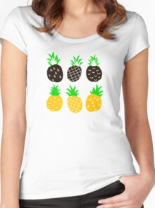 Black pineapple. Women's Fitted Scoop T-Shirt