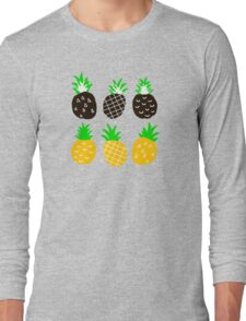 Black pineapple Long Sleeve T-Shirt