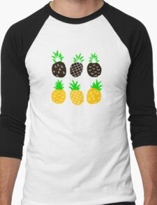 Black pineapple. Men's Baseball ¾ T-Shirt