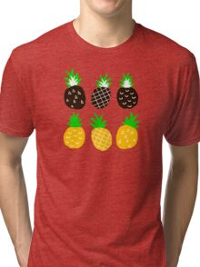 Black pineapple. Tri-blend T-Shirt