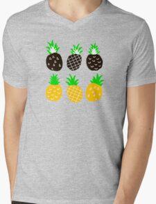 Black pineapple. Mens V-Neck T-Shirt