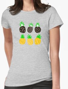 Black pineapple Womens Fitted T-Shirt