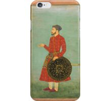 A portrait of Khan Zaman with shield and sword, attributable to Bichitr, Mughal,  iPhone Case/Skin
