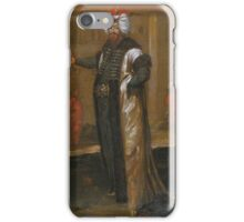 A portrait of Sultan Ahmed attributable to Jean Baptiste Vanmour, early 18th century iPhone Case/Skin