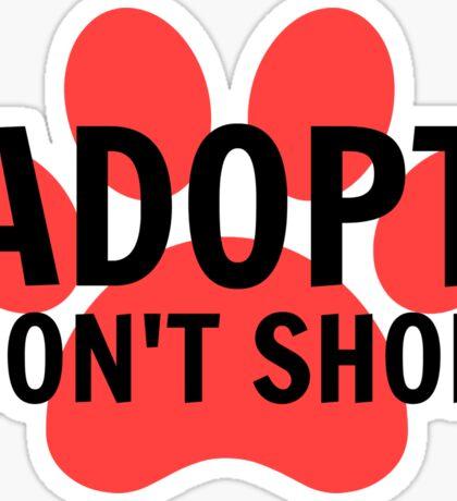 Adopt (Paw Print) Sticker