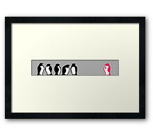 Be unique, be fabulous Framed Print