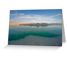 Dead sea, Israel at dusk Greeting Card