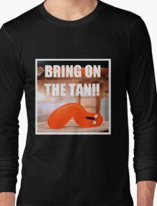 Hot Dog Man Tan Long Sleeve T-Shirt