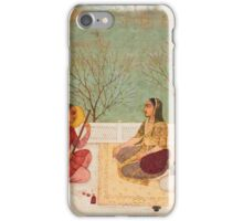 A princess listening to music on a terrace, India, Mughal, mid-18th century iPhone Case/Skin