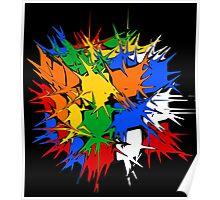 Rubik's Cube Explosion  Poster