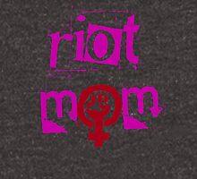 RIOT (GRRRL) MOM (pink text) Unisex T-Shirt