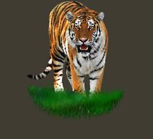 Tiger on Green Unisex T-Shirt