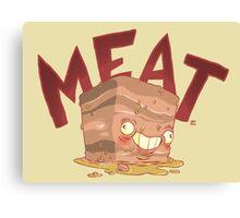 Meat block Canvas Print