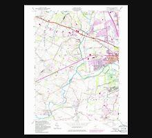 USGS TOPO Map New Jersey NJ Raritan 254817 1955 24000 Unisex T-Shirt